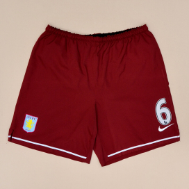Aston Villa 2008 - 2009 Player Issue Home Shorts #6 Barry (Very good) S
