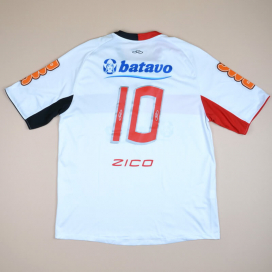 Flamengo 2010 Away Shirt #10 Zico (Very good) XL