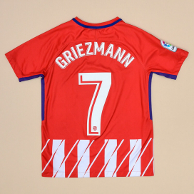 Atletico Madrid 2017 - 2018 Home Shirt #7 Griezmann (Very good) YL