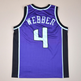 Sacramento Kings 2000 NBA Basketball Shirt #4 Webber (Very good) S